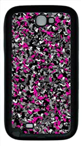 Abstract Pattern Design Protector TPU Material Black Cover Case For Samsung N7100