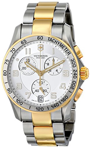 Victorinox Swiss Army Silver Dial Two-Tone SS Chrono Quartz Men's Watch 241509