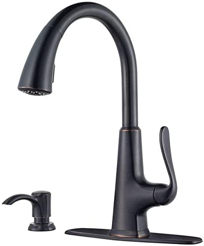 Pfister Price F-529-7PDY Single-Handle Pull-Down Sprayer Kitchen Faucet With So