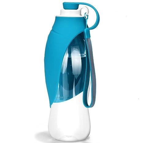 HJHY Botella de agua portátil para mascotas, dispensador de agua de viaje reversible y ligero