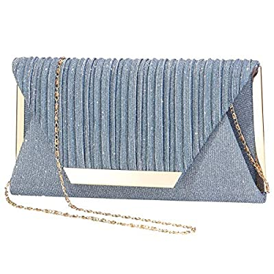 Women Sparkling Clutch Purse Evening Bag Envelope Handbag Shoulder Cross Body Bag