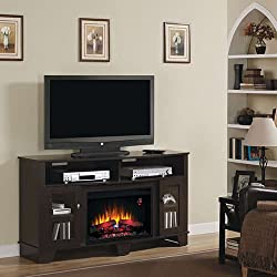 "ClassicFlame 26MM4995-NC72 La Salle TV Stand for TVs up to 65"", Various Colors (Electric Fireplace Insert sold separately) by ClassicFlame"