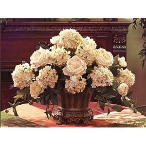 Cream Rose Hydrangea Elegant Silk Floral AR228-99 81