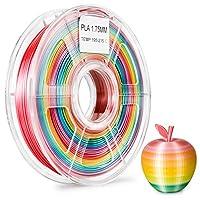 Zi-Rui 3D Printer PLA Filament, Rainbow Multi Color Gradient,1.75 mm,Dimensional Accuracy +/- 0.03 mm, 600G(1.3lbs) Spool. from Zi-Rui