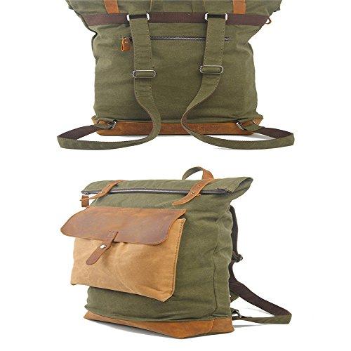 Neue britische retro style Männer und Frauen Rucksack reisen Rucksack Notebooktasche Schule wind Tasche Braun