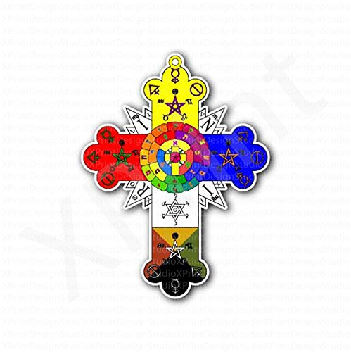 Rose Rosy Cross Lamen Sticker