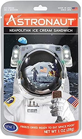 3 astronaute Neopolitan Ice Cream Sandwich 06//2023