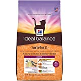 Hill's Ideal Balance Adult Hairball Natural Chicken & Barley Recipe Dry Cat Food, 7 lb bag