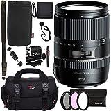 "Tamron 16-300 mm AFB016C700 F/3.5 6.3 Di II VC PZD Macro Interchangeable Lens for Canon Cameras + Polaroid 72"" Monopod + Polaroid Filter Set + Ritz Gear Bag + Cleaning Kit + Polaroid Accessory Bundle"