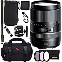 Tamron 16-300mm (6 Year USA Warranty) AFB016N700 F/3.5 6.3 Di II VC PZD Macro Interchangeable Lens for Nikon Cameras + 72 Monopod + Polaroid Filter Set + Ritz Gear Bag and Accessory Bundle