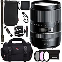 "Tamron 16-300mm (6 Year USA Warranty) AFB016N700 F/3.5 6.3 Di II VC PZD Macro Interchangeable Lens for Nikon Cameras + 72"" Monopod + Polaroid Filter Set + Ritz Gear Bag and Accessory Bundle"