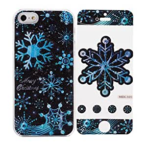 Christmas Snowflake Pattern While Calling Or Called Lightning Flash Led Case for iPhone 5/5S