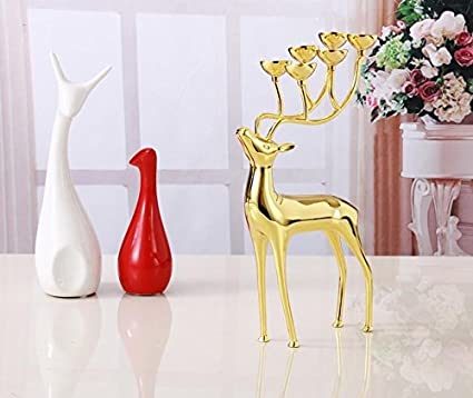 Amazon Luxurious Spotted Deer Candle Holders Stainless Steel