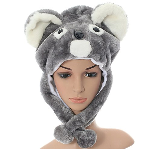 Animal Hats Fun Winter Warm Plush Cap With Fleece Lining