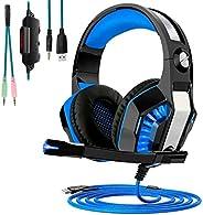 Fone Headset Gamer Microfone Play 4 Ps4 Xbox Pc Celular (Azul)