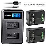 Kastar Battery (X2) & LCD Dual Slim Charger for GoPro AHDBT-201 - AHDBT-301 - AHDBT-302 - Gopro3 and GoPro Hero3+ - Hero3 - HD Motorsports Hero - Surf Hero - Hero Naked - Hero 960 - Hero HD 1080p