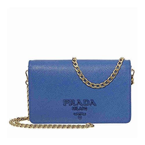 Prada Saffiano Leather Crossbody Bag- Blue - Prada Blue Handbag