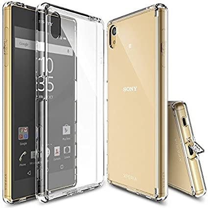 the latest 51fb5 eb1fe SmartLike Plain Transparent Back Cover for Sony Xperia Z5 Premium Dual 5.5