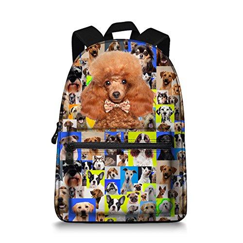 (Poodle Dog Lovely Bookbag Student Schoolbag Boys)