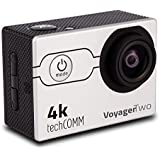 TechComm Voyager Two Waterproof 4K 16MP Sports Action Camera WIFI Sony CMOS Sensor with 21 Accessory Bundle