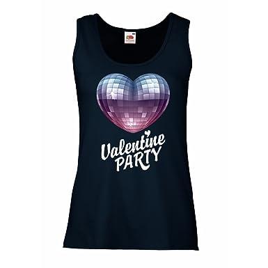 Damen Tank-Top VALENTINSTAG-Party T-Shirt (Kleidung der 80-er Jahre ...