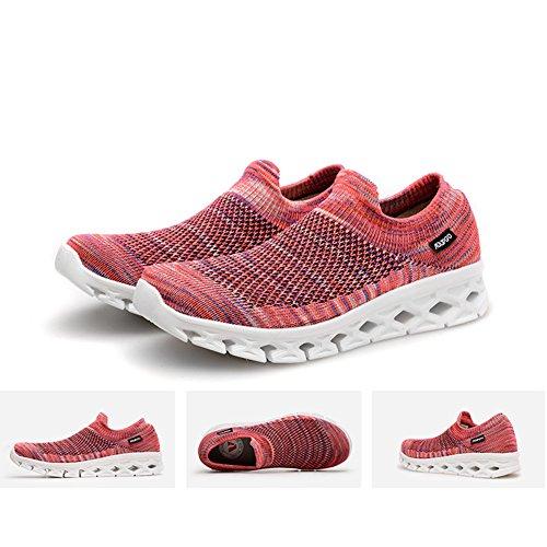 Suetar d'été et Flyknit Baskets élastiques Homme en Running Maille et Respirant Femme Marche pour de Couples Chaussures rwqrxvCIO