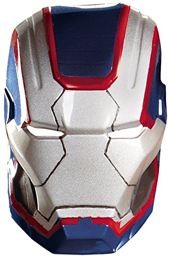Disguise Marvel Iron Man 3 Iron Patriot Vacuform Mask Costume Accessory, Blue/Red, One Size Adult -