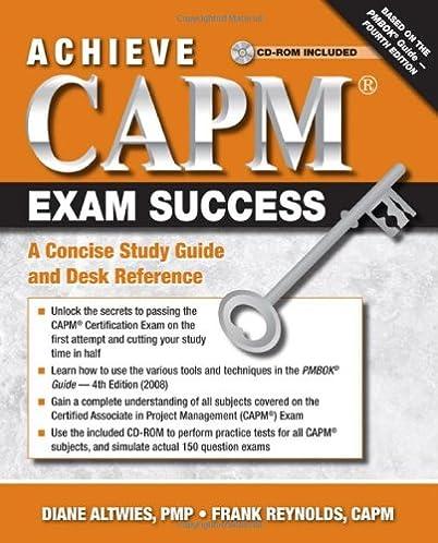 amazon com achieve capm exam success a concise study guide and rh amazon com capm study guide 2016 capm study guide free