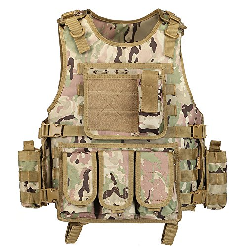 GZ XINXING Black Tactical Airsoft Paintball Vest (CP)