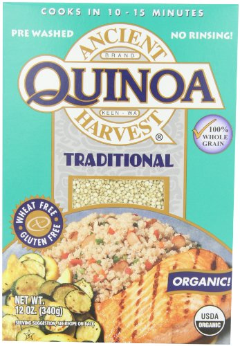 Ancient Harvest Organic Quinoa, Traditional, 12 Ounce (Pack of 12) (Ancient Vines)