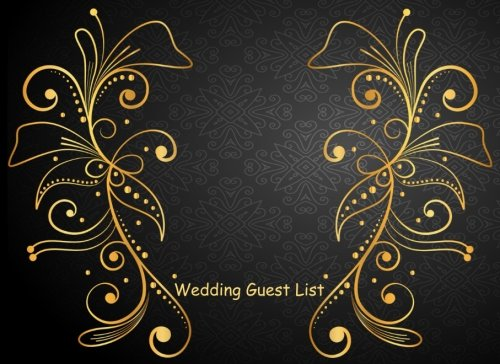 wedding guest list portable blank book list names addresses and