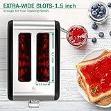 JOOFO 2 Slice Stainless Steel toaster,6 Shade