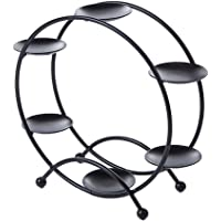 FITYLE Ferris Wheel Cupcake Dessert Stand Carrier Holder Stainless Steel for Parties, Birthdays, Weddings, More - Holds 6 Cupcakes (White, Pink, Black, Blue, Champagne, Golden)