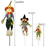 IFOYO Fall Harvest Scarecrow Decor, 2 Pack 39.4