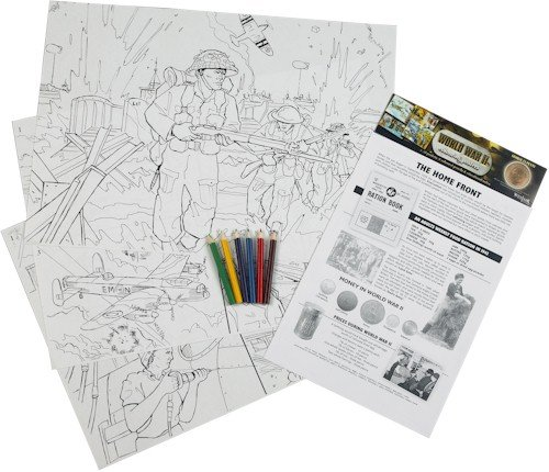 World War II The Home Front Educational Colouring Posters