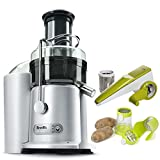Breville JE98XL Juice Fountain Plus 850 Watt Juice Extractor, Jumbl Potato Dicer French Fry Cutter with Dual Fry Size Blades and Rotary Cheese Grater