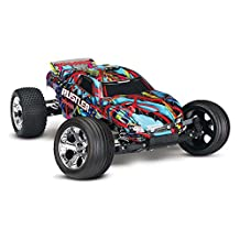 Traxxas Rustler RTR with XL-5 ESC Courtney Force Vehicle, Blue/Red