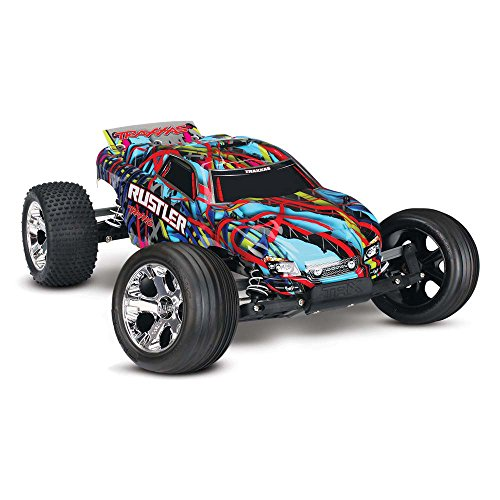Traxxas Rustler 1/10 Scale Stadium Truck with TQ 2.4GHz Radio System, Hawaiian
