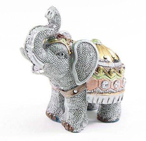 """Feng Shui 4.5"""" Elephant Wealth Lucky Figurine Home Decor Hou"""