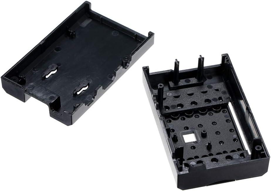 Walmeck Plus Black ABS Protective Case Shell Enclosure Cover Box Camera Frame for Raspberry Pi 3//2 Model B