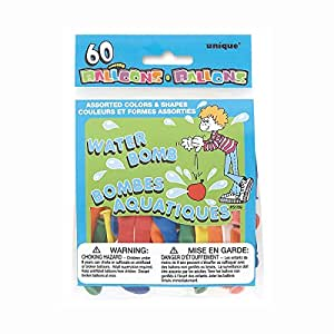 Assorted Shape & Color Water Balloons, 60ct