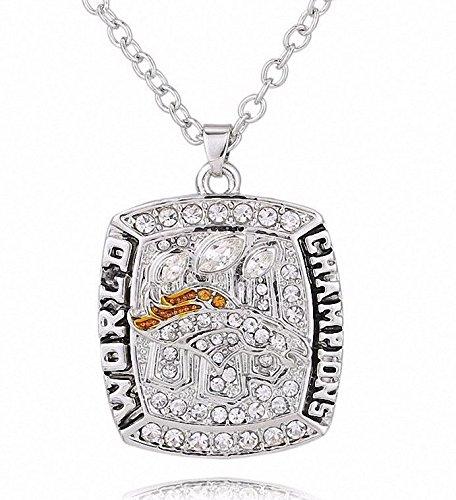 Denver Broncos 2016 Necklace - Peyton Manning Charm Chain Pendant Jewelry Unisex - Broncos 2016 Super Bowl...