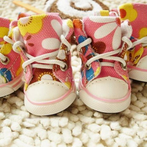 Dog's Footwear Pet's Cute Sneakers Animal Shoes Pink Color way-Size 4 by Step (Image #2)