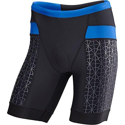 TYR Competitor 9in Tri Short - Men's Black/Blue, ()