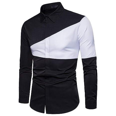 Cvbndfe Camisa de Vestir para Hombre Camisa De Algodón For ...