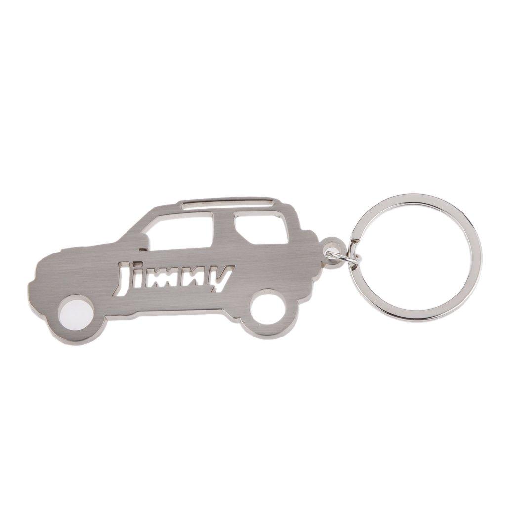 Plata Auto Car Regalo Llavero Titular Del Anillo Para Suzuki Jimny Fans