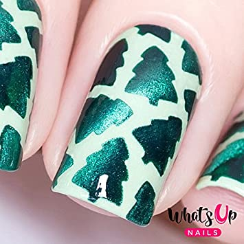 Amazon Whats Up Nails Forest Vinyl Stencils For Christmas