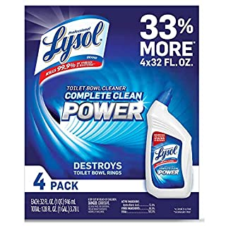 Lysol 2 X Power Toilet Bowl Cleaner Value Pack, 128 Ounce