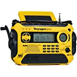 Kaito Voyager Pro KA600 Digital Solar Dynamo Crank Wind Up AM/FM/LW/SW & NOAA Weather Emergency Radio with Alert, RDS & Smart Phone Charger, Yellow