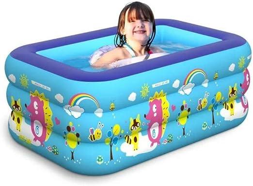 XC Piscina Inflable Infantil Piscina 1.3 M Cuadrado Tres Pisos ...